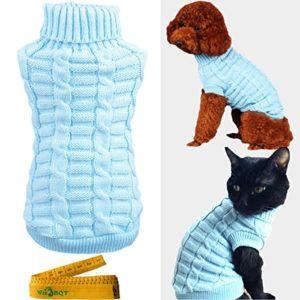 Wiz BBQT tricoté Tresse Natte à col roulé en Tricot pour Veste pour Chiens et Chats