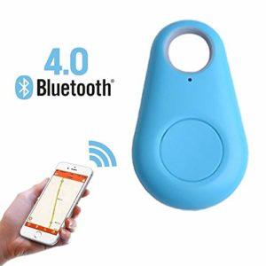 WMPRTT Mini traqueur GPS étanche pour Animaux de Compagnie Chien Chat Clés Portefeuille Sac Enfants GPS Tracker Animaux Finder Équipement (Bleu)