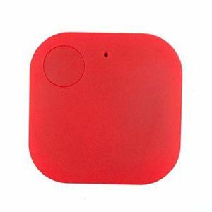 WMPRTT Mini traqueur GPS étanche pour Animaux de Compagnie Chien Chat Clés Portefeuille Sac Enfants GPS Tracker Animaux Finder Équipement (Rouge2)