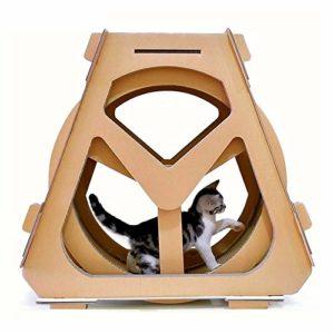ZHUHX Eau Grande Roue en Forme de Chat Grimpeur Papier ondulé Cat Scratch Board Broyage Claw Jouet, Taille: 73x36x70cm ZHUHX lit Animal de Compagnie