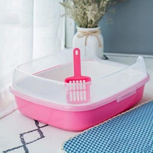 Animaux Litterbox, Bac de litière de chat, chat à litière toilettes Boîte, hygiénique, sans odeur Easy Clean, en plastique, réduit la litière de suivi et odeur Grande litière Box, haute capacité Avec
