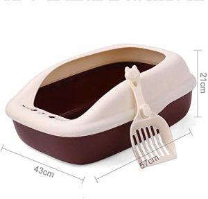 Animaux Litterbox, Bac de litière de chat, chat à litière toilettes boîte, hygiénique, sans odeur Réduit la litière Trackin / odeur Grande litière Box, haute capacité Avec Border Easy Clean, Assemblag