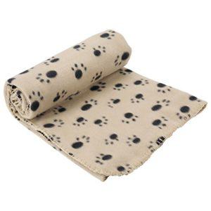 Bunty Couverture Polaire Douce et Chaude pour Animal Domestique, pour Chien, Chat et Animal – 140 x 100 cm – Crème