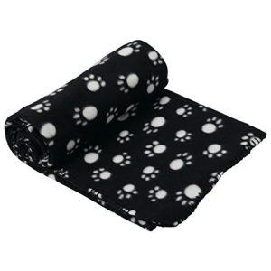 Couverture Polaire Douce et Chaude pour Animal Domestique et Chat Taille XL 140 x 100 cm – Noir