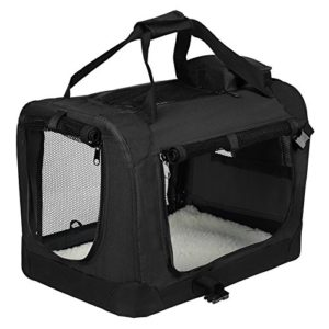 EUGAD 0127HT Cage de Transport en Oxford Sac de Transport Pliable pour Chien ou Chat,Noir 81,3×58,4×58,4cm