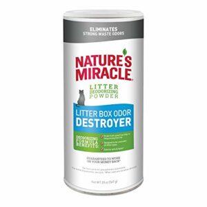 Nature's Miracle Juste pour Chats Odeur Destroyer Litière Poudre, 567Gram