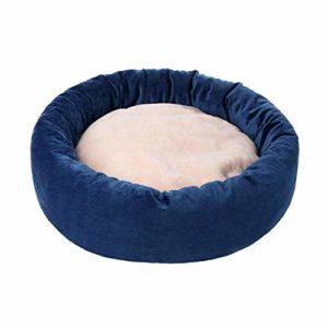 Pet Beds Lit rond pour chat en peluche douce pour chiot, chat, animal de compagnie, coussin de lit pour chat avec oreiller animaux canapé