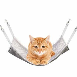 PET SPPTIES Hamac pour Chat Furet Rat Lapin Petit Chien ou Tout Autre Petit Animal de Compagnie Chaton Cage PS037 (M:35 * 35cm, Cooling Style,Grey)