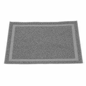 Tapis de litière pour chat, tapis de sol durables pour litière pour animaux de compagnie, tapis pour chat faciles à nettoyer, antidérapant, contrôle de la dispersion pour litière pour chat(gris)