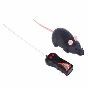 TOYANDONA Télécommande Électronique Rat en Peluche Souris Souris Jouet pour Chat Chien Enfant Jouets Cadeau (Gris)