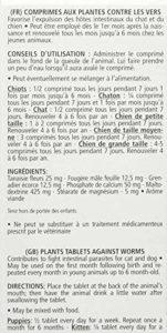 VETOCANIS Comprimés contre les vers pour Chien et Chat – Boite de 30 comprimés lot de 2 boite