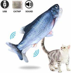 Xiaoyue Poisson électrique Jouet for Chat, Poisson de Danse interactif intérieur for Kitty, Jouets Parfait for Mordre, Mâcher et Kicking, par Elle-même Moves lalay