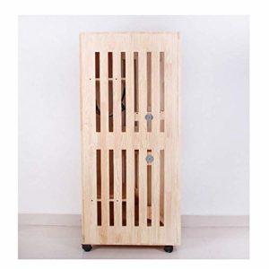 YF-SURINA Toilette pour animaux de compagnie en bois massif Villa pour chat 01-04Cat Cage Salle d'accouchement élevage graduellement Litière pour chat Maison pour chat, 01,3