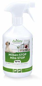 AniForte Anti Mite Spray 500 ml pour Chiens e Chats e Chevaux e Rongeurs, Anti acarien d'oiseau rouge, Anti-Parasite, Contre la Vermine