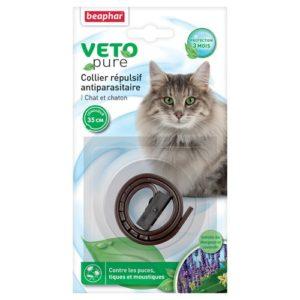 Beaphar – VETOpure, collier répulsif antiparasitaire – chat et chaton – marron