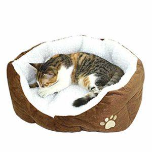 CAOLATOR – Panier rond ou ovale en polaire pour petit chien ou chat