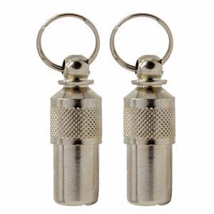 Deux pendentifs porte-adresse pour petits chiens et chats – Idéal pour petits chiens et pour chats – Peut aussi servir pour tout autre petit animal – pendentif pour collier pour l'identification de votre animal.