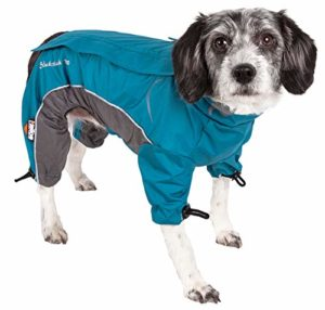 DogHelios Blizzard Full-Bodied Adjustable and 3M Reflective Dog Jacket, X-Large, Blue