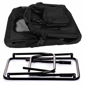 EUGAD 0121HT Cage de Transport en Oxford Sac de Transport Pliable pour Chien ou Chat,Noir 70x52x52cm