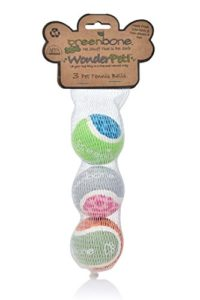 Greenbone Wonderpet. Balle de tennis de jouets, 5,1 cm, 3-pack