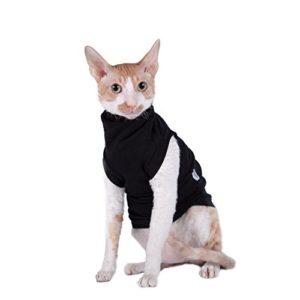 Kotomoda vêtements pour chat Col roulé pour chat Chat noir (L)