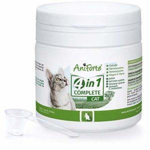 L'original de AniForte 4 en 1 Complete 60 g pour les chats, les collages, les pigeons, l'Acaï, le Topinambur, riche en antioxydants, les prébiotiques, les vitamines et les minéraux, pour une nouvelle liberté de mouvement et une qualité de vie, fabriqué en Allemagne.