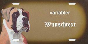 Panneaux pour chien personnalisable Chien Boxer–warnschilder