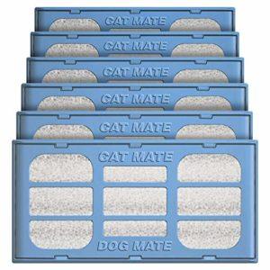 Pet Mate Lot de 6 cartouches filtrantes de rechange pour une utilisation avec des fontaines de chien et chat