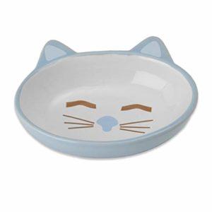 Petrageous Grès Gamelles Ici Kitty, 5–1/5,1cm, Ovale, 150,3Gram, Bleu