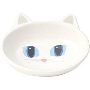 Petrageousfrisky Kitty Soucoupe Ovale, Blanc, 150,3Gram