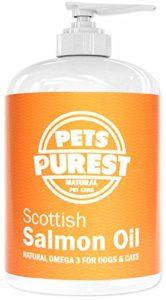 Pets Purest – 500ml – 100% Naturel Premium Qualité Alimentaire Pure écossais Saumon Huile Omega 3 supplément pour chiens, Chats, Chevaux & animaux de compagnie. Favorise la Manteau, Joint et Brain santé