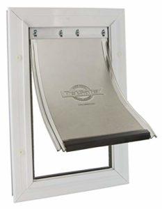 PetSafe – Chatière Staywell Moyenne Robuste en Aluminium (M) pour Chien,avec Système de Verrouillage – Robuste – Isolante – (3×27,8x40cm)