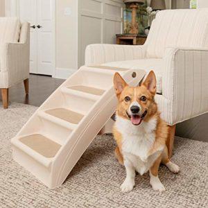 PetSafe – Escaliers pour animaux de compagnie pliables PetSafe Solvit PupStep Plus, 4 marches pour chien/chat