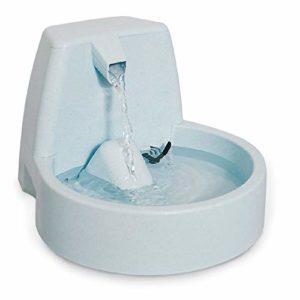 PetSafe – Fontaine Cascade Drinkwell Original 1.5 L pour Chien et Chat – Débit réglable – Retient les Odeurs et Bactéries