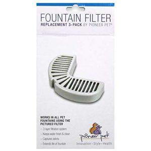 Pioneer Pet Filtres pour fontaines de céramique ou d?Acier Inoxydable de