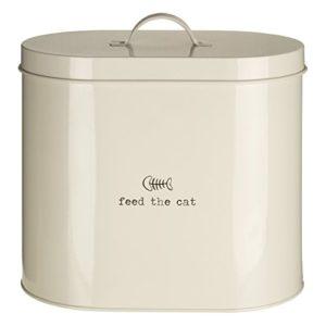 Premier Housewares Boîte de stockage de nourriture pour animaux domestiques Avec cuillère Naturel, Métal, crème, 6.5 Litre