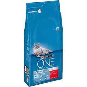 PURINA ONE Spécial Chat Stérilisé Au Bœuf et au Blé 6 KG – Croquettes pour chat adulte