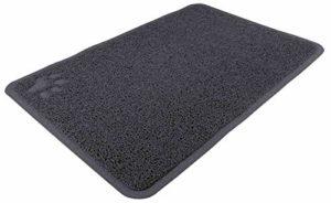 Tapis pour bac à litière, PVC, 40 × 60 cm, anthracite – enlève la litière des pattes