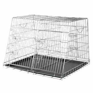 Trixie – 3930 – Cage de transport double – 93 x 68 x 79 cm