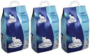 3x 20L Catsan Hygiène litière non agglomérante pour chat multibuy