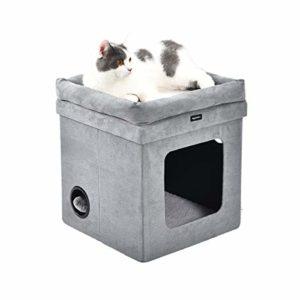 AmazonBasics Niche pliable pour chat, Gris