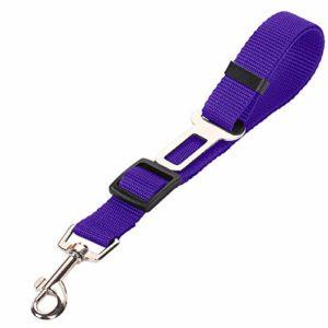 aycpg Animaux de Voiture Ceinture de sécurité for véhicules de Traction Chien Corde Siège d'auto Ceinture Harnais Clip Plomb Pet Supplies Dog (Color : Purple, Size : 65×2.5cm)