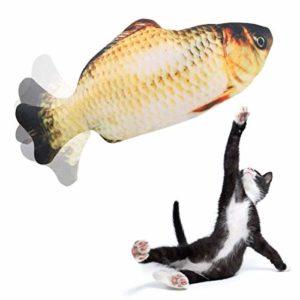 Beewarm Poisson Chat Jouet Poisson Jouet Flopper mouvement poisson chat Jouet for chats Animaux interactifs Chew Fournitures Bite cataire – Parfait for Mordre, Mâcher et Kicking poissons jouet XINRUIB