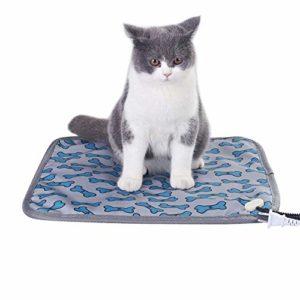 Beirich Coussin chauffant électrique pour animal domestique, tapis chauffant étanche pour chien, couverture chauffante pour chat