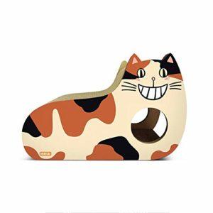 Cat Scratcher Carton Rechargeable Cat Scratcher Recharge Cat Lounge Carton supérieur, Salon à gratter incliné en Carton ondulé, Carton réversible avec cataire Bio
