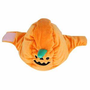 Chapeau pâte Crochet et Boucle adopte la Broderie 55G modélisation drôle et Mignonne Halloween Citrouille Chapeau pour Animaux de Compagnie, Halloween Cosplay Taille Libre Orange,(Yellow)