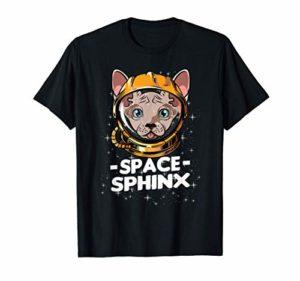 Chat Sphynx Chat Astronaute de l'espace Personne Chat Maman T-Shirt