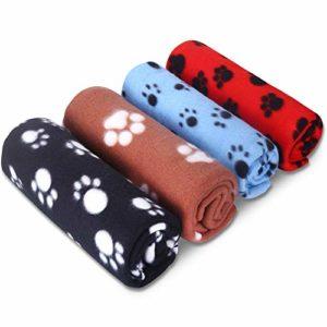Comsmart Pet Couverture chaude Dog Cat plaids veille Tapis de Pad Housse de matelas avec empreintes de pattes Couverture souple pour chaton Chiot et autres petits animaux
