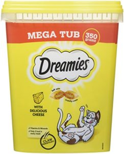 Dreamies Friandises pour chats – Fromage ( Cheese MegaTub ) – 350g (2 Paquets)