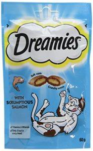 Dreamies Friandises pour chats – Saumon ( Salmon ) – 60g (8 Paquets)